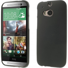 HTC One M8 TPU Case Frosted - Zwart