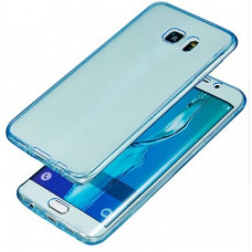 360 Front and Back Shockproof Skin Galaxy S7 - Lichtblauw