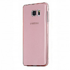 Transparent Silicone Case Galaxy Note 5 N920F - Roze