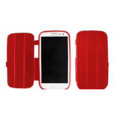 Silicone Bookcase Slimfit voor Galaxy S3 i9300 - Rood