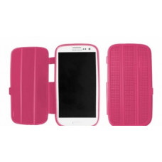 Silicone Bookcase Slimfit voor Galaxy S3 i9300 - Roze
