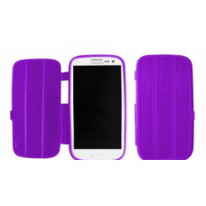 Silicone Bookcase Slimfit voor Galaxy S3 i9300 - Paars