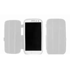 Silicone Bookcase Slimfit voor Galaxy S3 i9300 - Wit