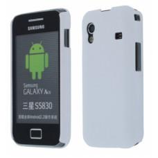 Carbon Case Galaxy Ace S5830 - Wit