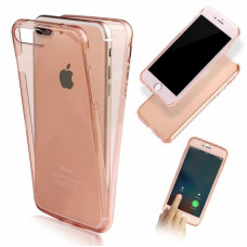 360 Front and Back Shockproof Skin iPhone 6/6S - Roze Goud