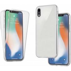 MSS Apple iPhone XR Transparant TPU 360° graden TPU siliconen 2 in 1 hoesje